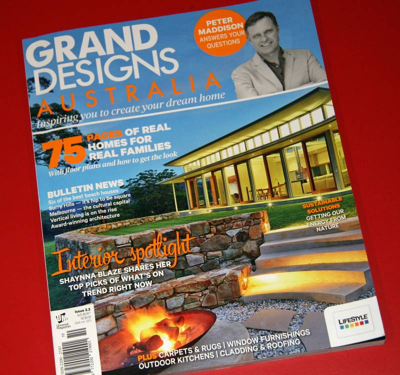 Our Design Front Cover of Grand Designs Australia Magazine